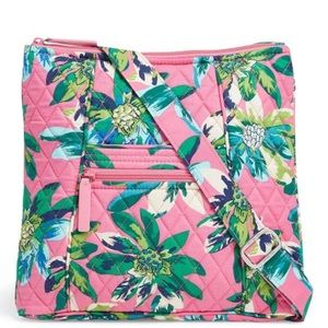 Vera Bradley Tropical Paradise Hipster Purse pink